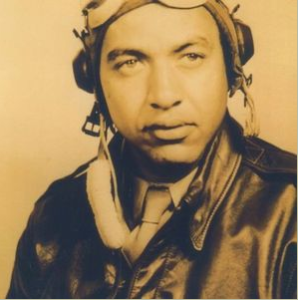 Mitch Higginbotham as a Tuskegee Airman.