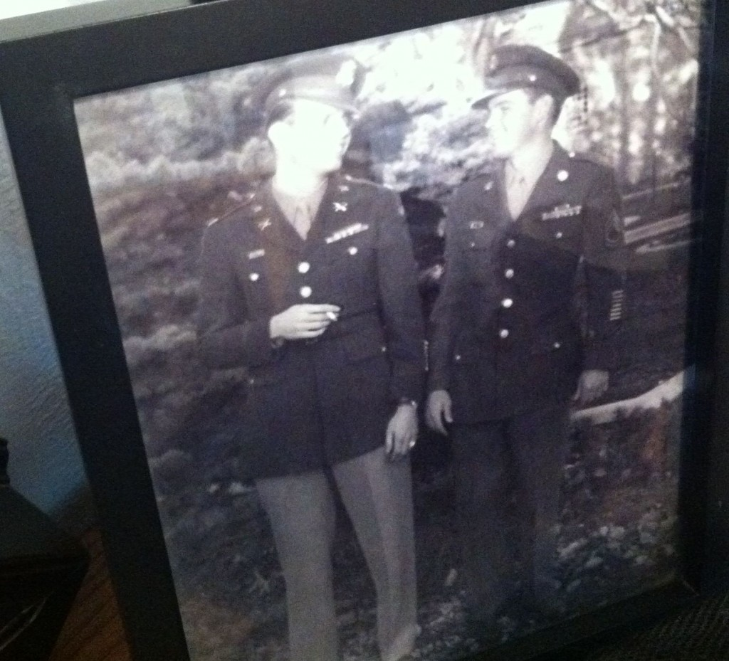 Bill Overmier (right) with fellow prisoner of war Jack Bradley.