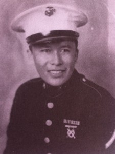 Bill Toledo after enlisting in the U.S. Marine Corps