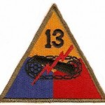 13th Armored Division Patch