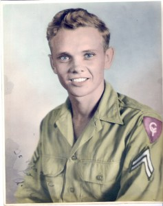 Asa Ray as a soldier in the 38th Infantry Division in 1944.