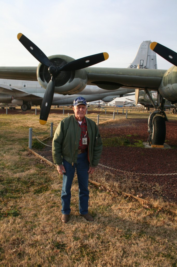 Bill Hiller at Castle Air Museum, where he volunteers in the restoration hangar.