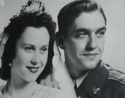 Gerda and Don Fries on their wedding day.