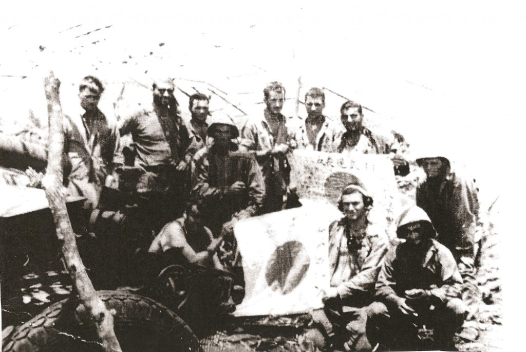 Max Rouff and fellow Marines on Saipan.