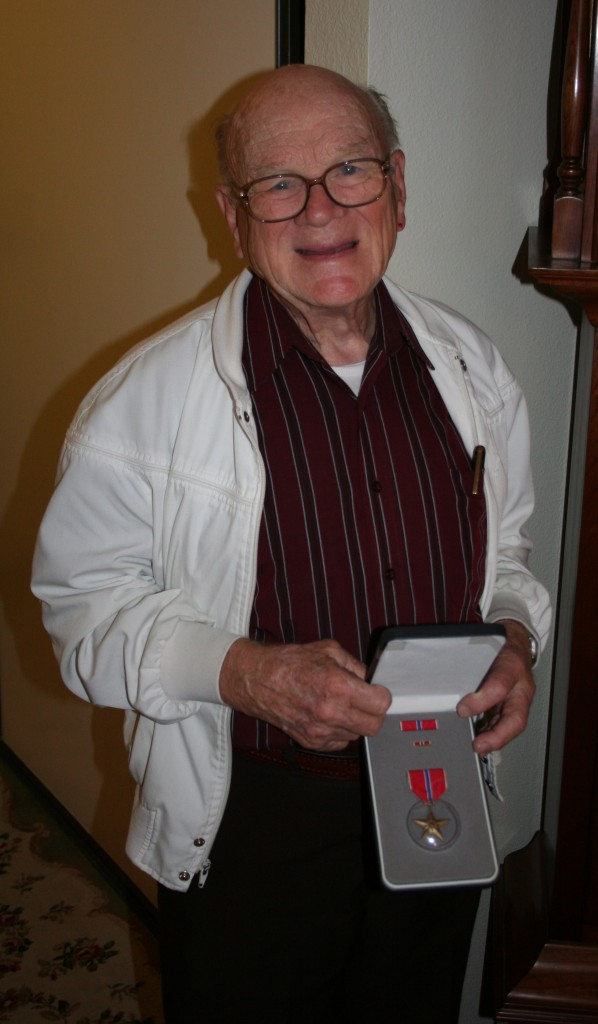 Vern Thompson with his Bronze Star