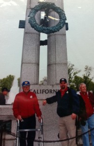 John Wagenhalls experiencing the National World War II Memorial with Central Valley Honor Flight.