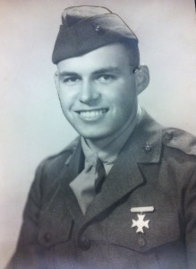 John Wilcox as a young U.S. Marine.