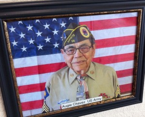 You'll find this photo on the Wall of Honor at Walnut Park Senior Living in Visalia.