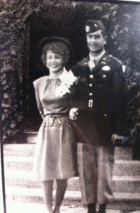 Judy and Bill on their wedding day in 1945