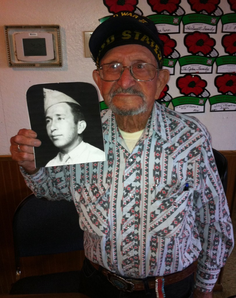 94-year-old Francisco Paredes at his favorite haunt, the VFW post in Atwater.