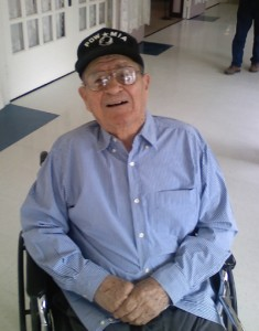 Julio Barela at the New Mexico Veterans Home in 2010.