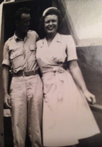 Bill and Helen Kearney on Saipan not long after they met.