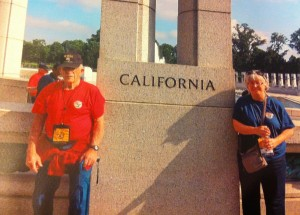 Warren and his daughter, Billie, visiting the National World War II Memorial with Central Valley Honor Flight. For more photos, visit the Hometown Heroes facebook page.