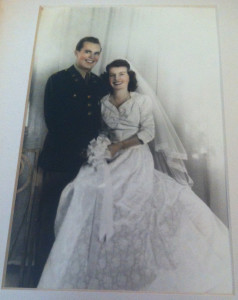 Jack and Maxine Leonard on their wedding day in 1944.