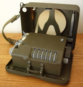 An M209 code converter like the one Jack used in the Pacific during World War II.