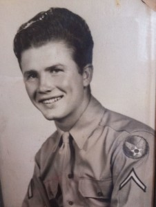 Jake Luttrell during his days in the U.S. Army Air Corps