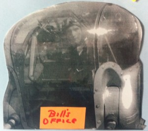 "Bill Schrader's ""office"" was the nose turret of a B-24."