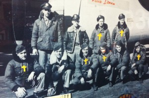 Bill has marked deceased members of his crew with a gold cross.