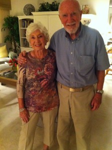 Cressida and Ray Maloney after 70 years of marriage.
