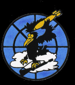 The insignia of the 527 Fighter Squadron.