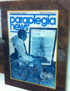 Frank on the cover of a 1981 issue of Paraplegia News