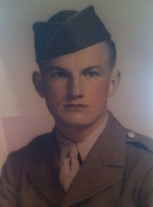 Jim Henderson as a 20-year-old Army PFC.
