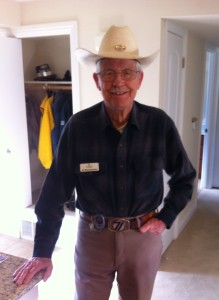 "92-year-old Allen Rasmussen is known as ""Cowboy"" at the Terraces at San Joaquin Gardens."