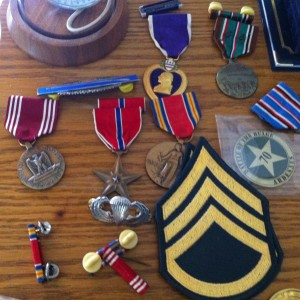 Tom Rice's medals include the Bronze Star and the Purple Heart.