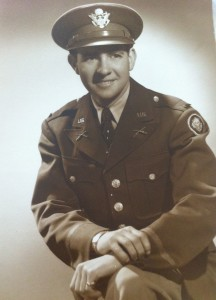 Alan Dunbar during his days with the 106th Infantry Division.