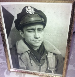 Bill Guenther as a young Army Air Corps navigator.