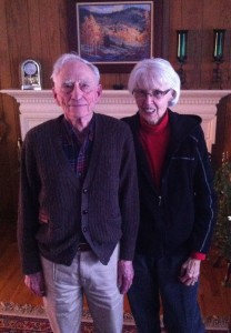Bill Guenther and his wife, Verna, in their Laramie, Wyoming home.
