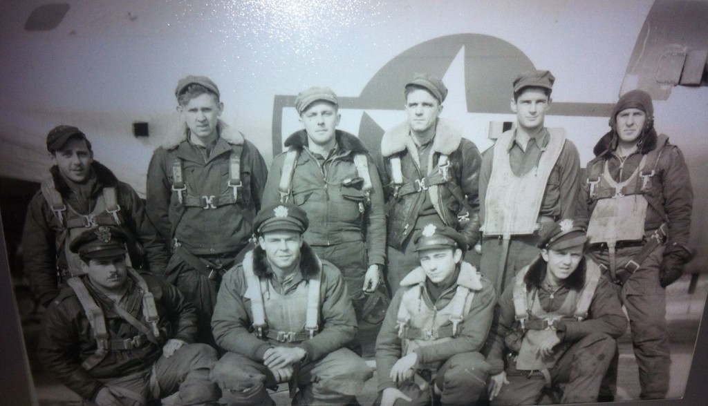 Bill Guenther (front row, second from right) with his B-17 crew.
