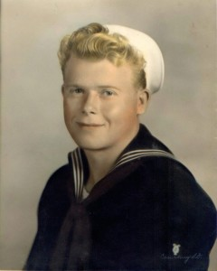 Leon Christensen after joining the Navy