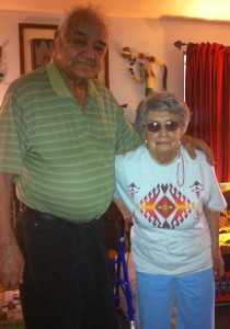 Seth and Elfrieda Irving after nearly 68 years of marriage.