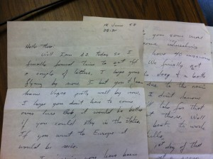 "A letter Jimmy Escalle sent to his younger brother one day before he was shot down behind enemy lines. ""I hope you don't have to come over here, Bob,"" he writes."