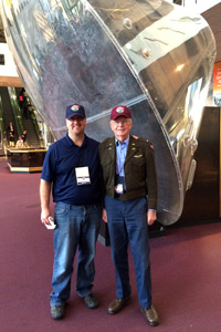 At the Smithsonian Air & Space Museum with guardian Denny Boyles. Read Denny's article on Honor Flight and Mr. Mould here.