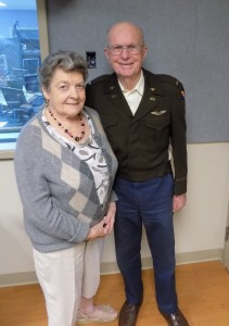 Anita and Eugene Mould after 71 years of marriage. Thanks to Hometown Heroes affiliate KFIV in Modesto, where this photo was taken and the interview was recorded.