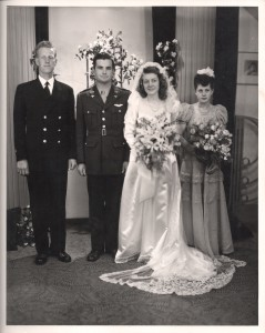 Eugene & Anita Mould on their wedding day in 1944.
