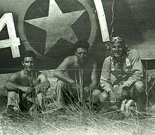Ed Ellington (right) during WWII