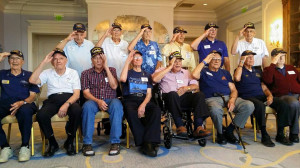 14 survivors of the U.S.S. Indianapolis at a reunion marking 70 years since her sinking. (Courtesy USS Indianapolis Presentation with Survivors)