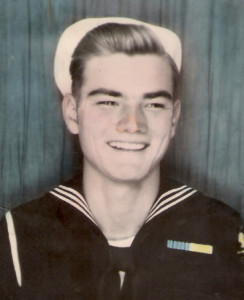 Charlie Wadhams as a teenaged sailor. For more photos, visit the Hometown Heroes facebook page.
