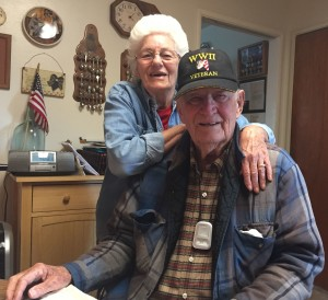Bob and Edna Ashburn in their Atwater, CA home. For more photos, visit the Hometown Heroes facebook page.
