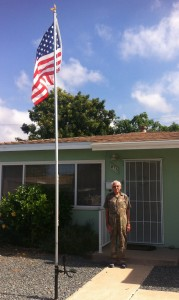 Gene Leonard flies the flag high outside his Chula Vista, CA home. For more photos, visit the Hometown Heroes facebook page.