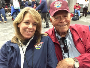 Father and daughter sharing the Honor Flight experience.