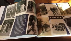 Highlights of Sarg's WWII service are captured in a book his daughter Alicia made for his 90th birthday.