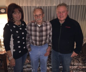 Max De St. Jeor at home in Orem, UT with his daughter, Maxine, and son, Dave.