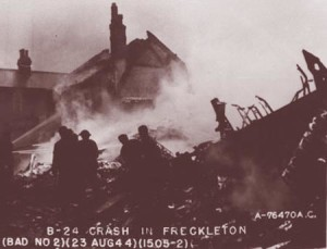 Max witnessed the Freckleton Air Disaster in August 1944.
