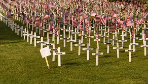 Max started the tradition of honoring veterans with white crosses at the Orem cemetery.