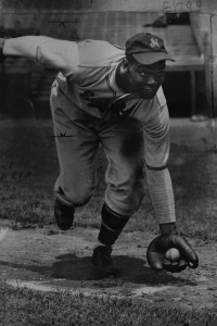 Monte Irvin playing for the Newark Eagles.