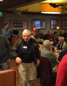 Royce Williams mingling with his fellow Old Bold Pilots in Oceanside, CA.